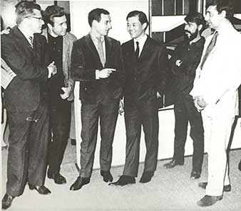 Federico Alvarez, Manuel Felguerez, Vicente Rojo, Kazuya Sakai y Fernando García Ponce