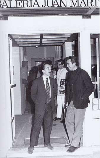 Juan Martín y Manuel Felguérez. Tomado de 'Tiempos de Ruptura'