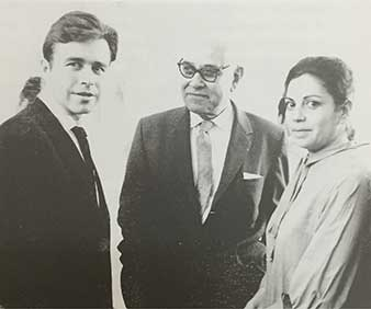 Lilia Carrillo. Manuel Felguérez, Rufino Tamayo y Lilia Carrillo, en la inauguración de una exposición de Lilia. Ciudad de México, 1962