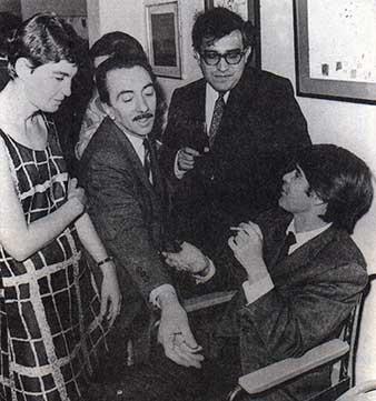Michel Alban, Juan Martín, Carlos Monsivais y mexicanos